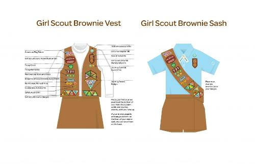 Girl scout brownies patch placement